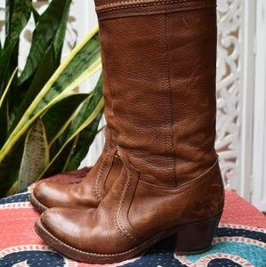 Vintage Frye western style boots, size 6.5
